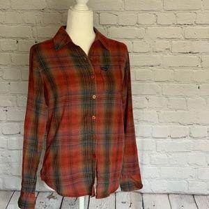 RVCA Plaid Button Down Shirt